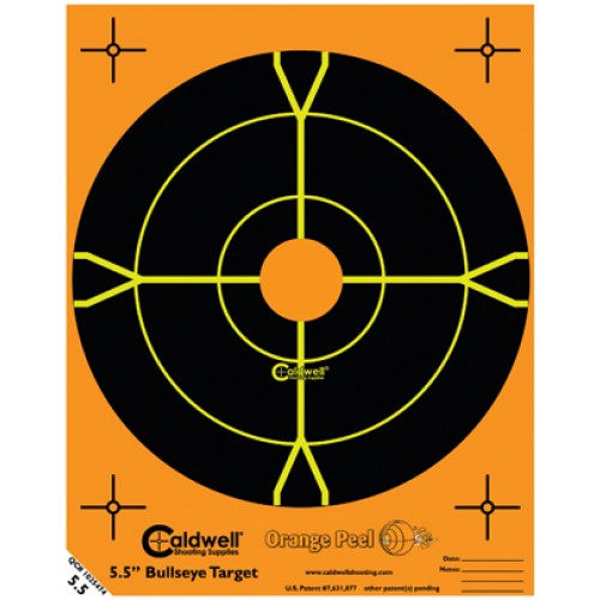 Caldwell Orange Peel Target 14cm Self-Adhesive Bullseye x10