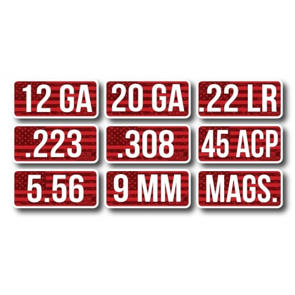 MTM Ammo Caliber Labels .223 8-Pack