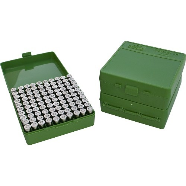 MTM P100-45 Ammo Box 10mm, 40S&W, 45ACP Green