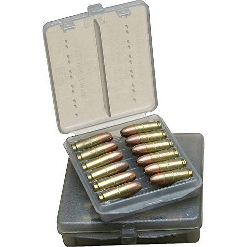 MTM Handgun Ammo Wallet 12 Rounds 44 REM 44 MAG Special Clear Smoke