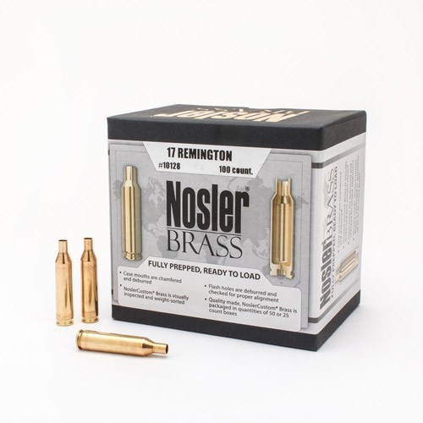 Nosler Custom Brass 17 Remington x100
