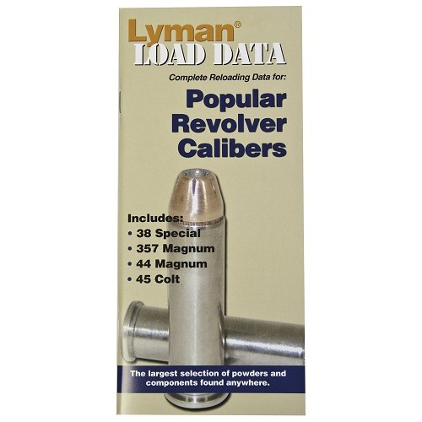 LYMAN Load Data Book Revolver 38 Spec, 357 Mag, 44 Mag, 45 Colt