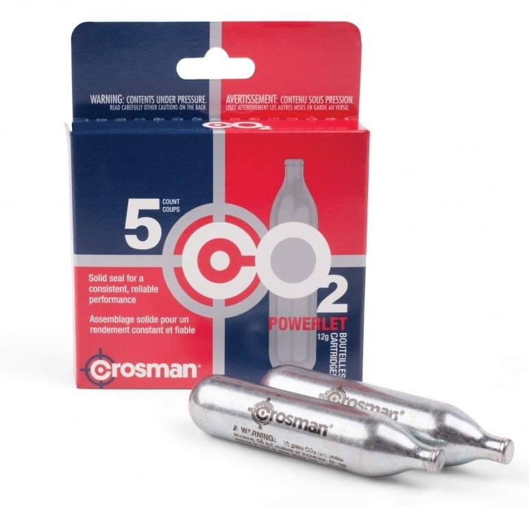 Crosman Co2 Cartridges x5