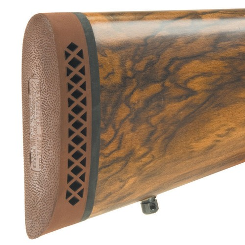"""Pachmayr F325 Deluxe Shotgun & Rifle Recoil Pad Large 1.15"""" Brown / White Line"""