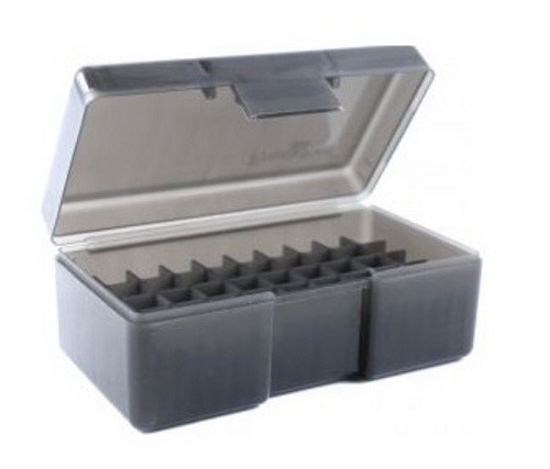 Frankford Arsenal Flip-Top Ammo Box #506 480 Ruger, 50 Action Express 50-Round Plastic Gray