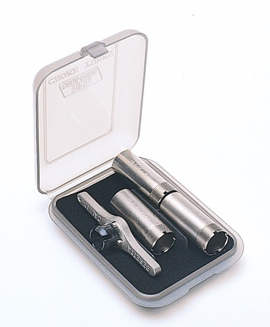 MTM Tube Case Holds 3 Extended Chokes Clear Smoke