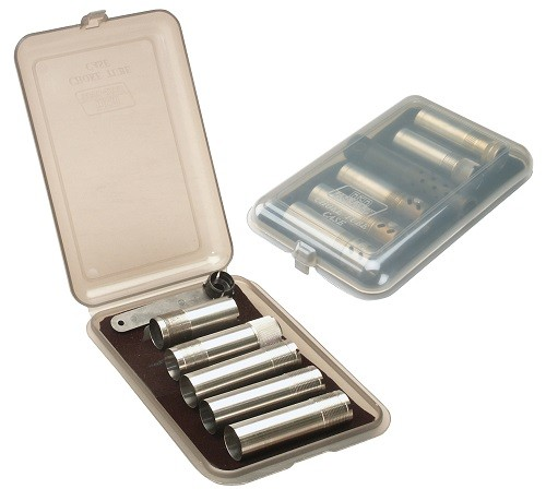 MTM Tube Case Holds 6 Extended Chokes Clear Smoke