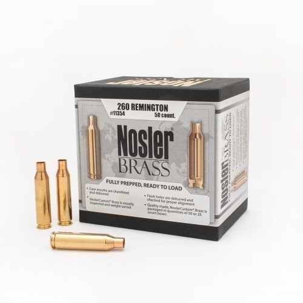 Nosler Custom Brass 260 Remington x50
