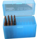 MTM RLLD-50 Rifle Ammo Box Clear Blue