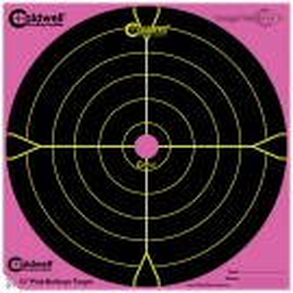 Caldwell Orange Peel Target 30cm Self-Adhesive Bullseye x5 Pink