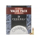 Federal Champion Target Ammunition 22 Long Rifle 36 Grain Plated Lead Hollow Point #745 Carton of 5250