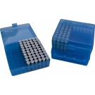 MTM P100-45 Ammo Box 10mm, 40S&W, 45ACP Clear Blue