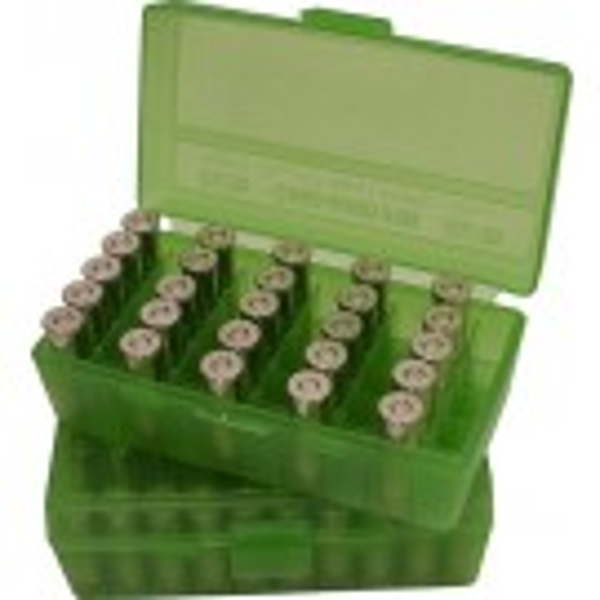 MTM P50-9 Ammo Box 9mm 380ACP Clear Green