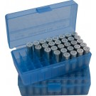 MTM P50-45 Ammo Box 10mm, 40S&W, 45ACP Clear Blue