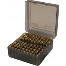 MTM RS-100 Rifle Ammo Box Flip-Top 223 204 Ruger 6x47 Clear Smoke