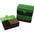 MTM RS-50 Rifle Ammo Box Green/Black