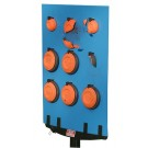 """MTM Bird Board With 18 Easy To Load Clay Target Clips 17.5x23"""" Blue"""