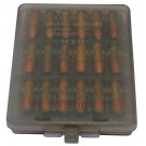 MTM Handgun Ammo Wallet 18 Rounds 38 Super Colt 9MM Clear Smoke