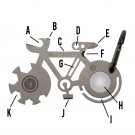 UST Multi-Tools Tool A Long Bicycle