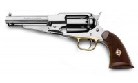 Pietta Black Powder Revolver 1858 Remington Sheriff Inox Cal.44 Checkered Grip