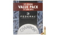 Federal Champion Target Ammunition 22 Long Rifle 36 Grain Plated Lead Hollow Point #745 Box of 525