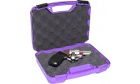 "MTM Single Pistol Handgun Case Single Up To 4"" Revolver Purple"
