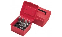 MTM Die Storage Box Hold 4 Sets Of Smaller Dies Red