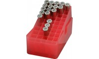 MTM E50-45-29  Slip-Top Ammo Box 50 Round Square Hole .41 - .44 Clear Red