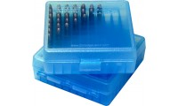 MTM P100-22-24 Ammo Box 22LR & 25 ACP Clear Blue
