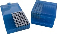 MTM P100-44 Ammo Box 41, 44 Magnum, 45 Long Colt Clear Blue