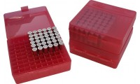 MTM P100-45 Ammo Box 10mm, 40S&W, 45ACP Clear Red