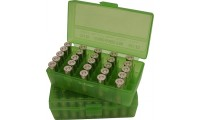 MTM P50-38 Ammo Box 38 Special, 357 Magnum Clear Green