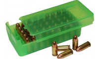 MTM P50SS Side-Slide Pistol ammo boxes 50 round 10mm, 40S&W, 45ACP Clear Green