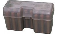 MTM Ammo Box 22 Round Flip-Top 338 Wsm 45-70 450 Marlin Clear Smoke