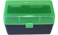 MTM RLLD-50 Rifle Ammo Box Clear Green/Black