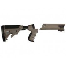Advanced Technology Talon Tactical 6-Position Collapsible Stock and Forend Set with Triton Mount & Scorpion Recoil System Mossberg 500, 590, 835, Maverick 88 12 Gauge Desert Tan