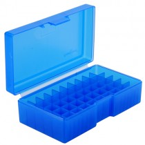 Frankford Arsenal Flip-Top Ammo Box #506 480 Ruger, 50 Action Express 50-Round Plastic Blue