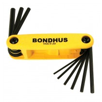 "Bondhus Fold-Up ProGuard GorillaGrip Hex End 5/64"" to 1/4"" Yellow"