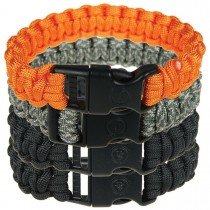 "UST Paracord Survival Bracelet 8"" 4-Pack Assorted"