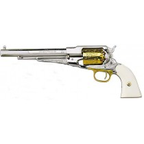 Pietta Black Powder Revolver 1858 Remington Plated Brass Cal.44