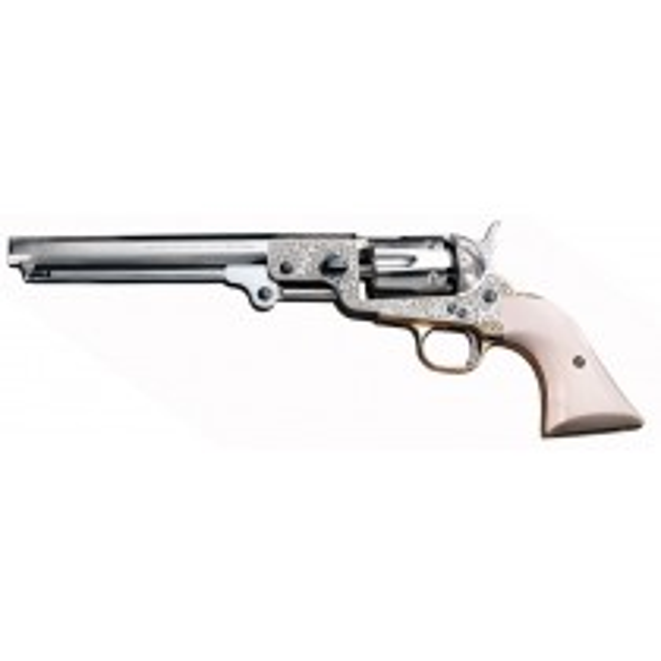 Pietta YAE36 Black Powder Revolver 1851 Navy Yank Super De Luxe Ivory Cal.36