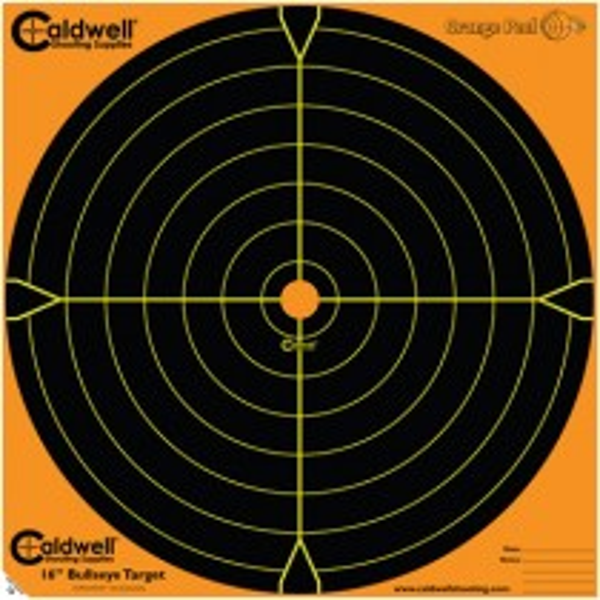 Caldwell Orange Peel Target 40cm Self-Adhesive Bullseye x5