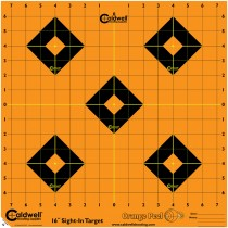 Caldwell Orange Peel Sight-In Target 40cm Self-Adhesive x5