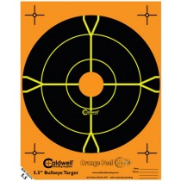 Caldwell Orange Peel Target 14cm Self-Adhesive Bullseye x50