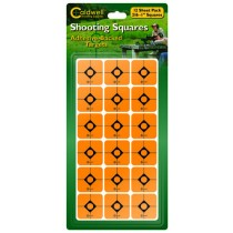 "Caldwell 1"" Orange Shooting Squares, 12 Sheets"