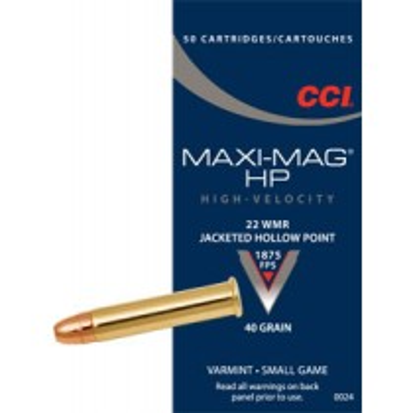 CCI Maxi-Mag 22 WMR HS TMJ x50