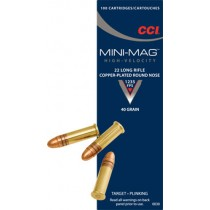 CCI 22lr RN Mini-Mag x100 22 Long Rifle Copper Plated Ammunition