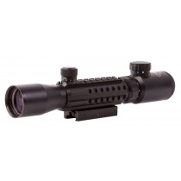 Sun Optics USA CS10-TR3932IR Tri-Rail Rifle Scope 3-9x32 Tactical Mil Dot Illuminated R/G/B