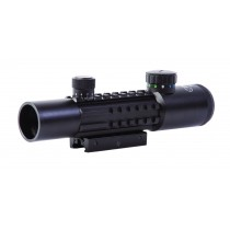 Sun Optics USA CS10-TR428IR Tri Rail Rifle Scope  4x28 Tactical Mil Dot Illuminated R/G/B