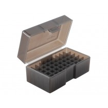 Frankford Arsenal Flip-Top Ammo Box #512 22 PPC, 6mm BR, 7mm BR, 7.62x39 R 50-Round Gray